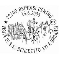 Annullo postale Papa Brindisi