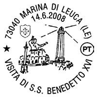 Annullo postale Papa Marina di leuca