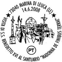 Annullo postale Papa Santa Maria d Leuca