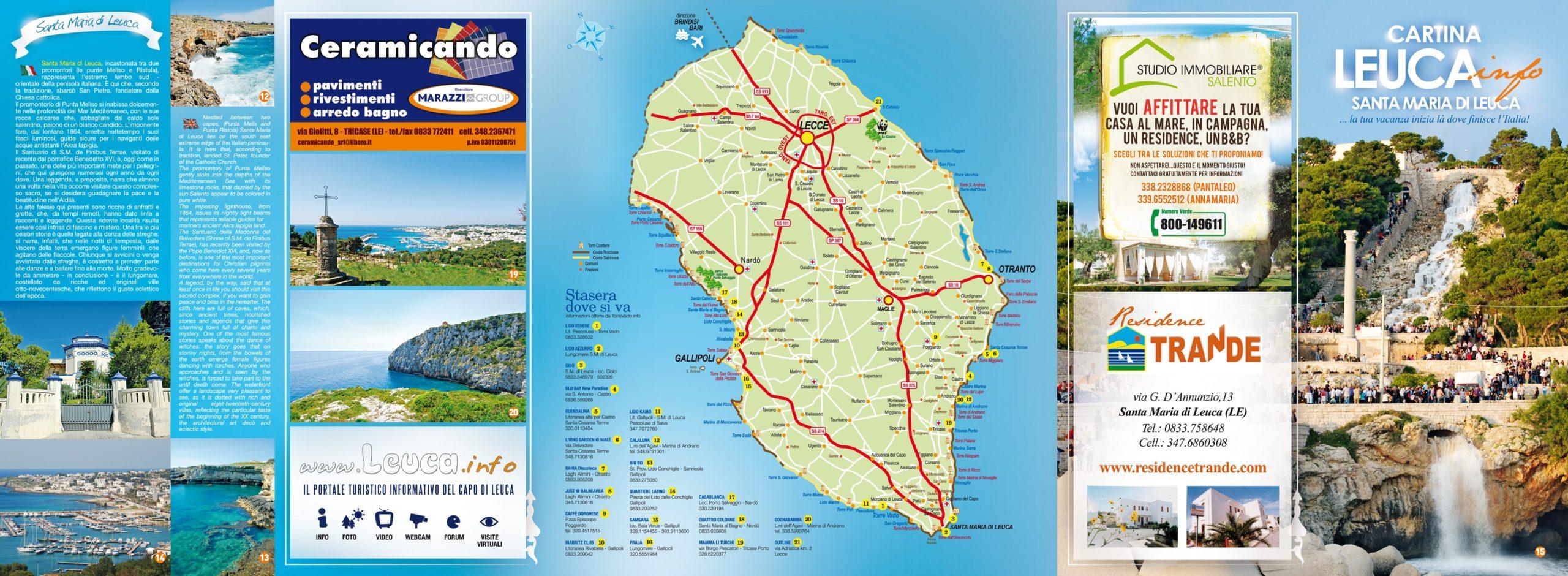 Cartina di Leuca Fronte