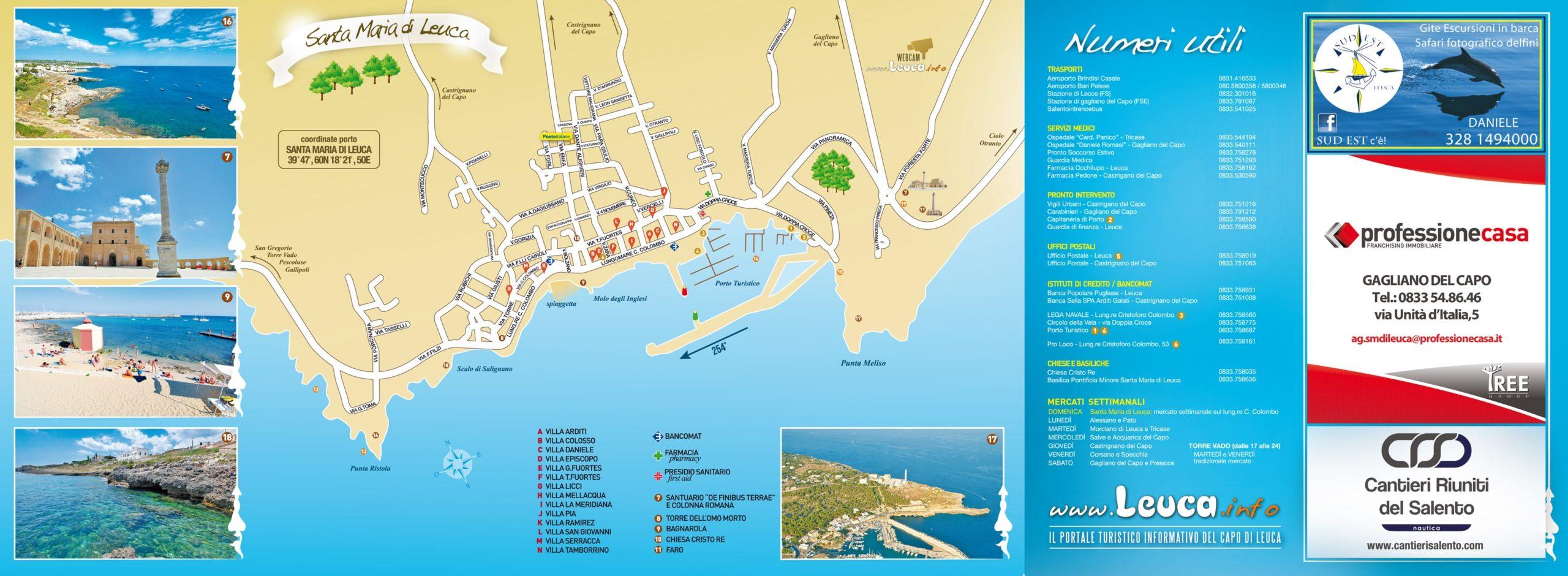 Cartina di Leuca Interno