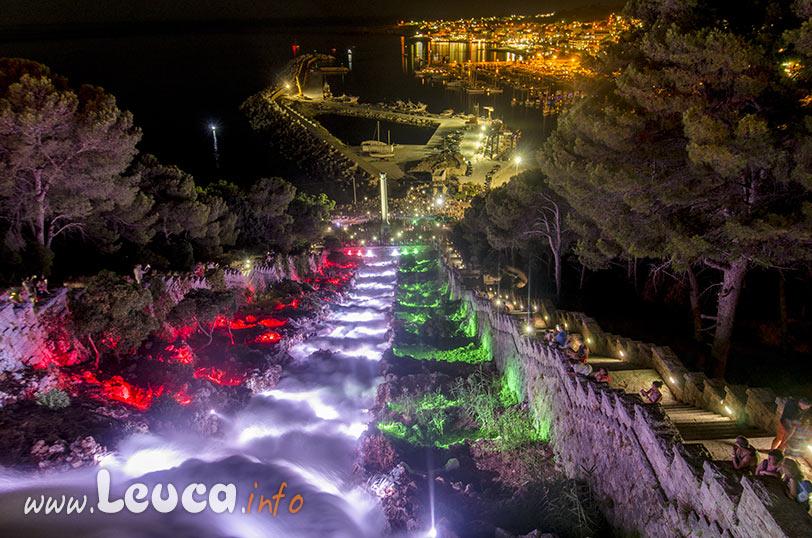 Cascata Monumentale con illuminazione a Santa Maria di Leuca