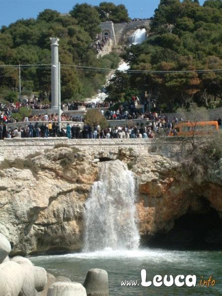 Cascata della scalinata della marina di leuca. Cascata monumentale aperta poche volte all'anno