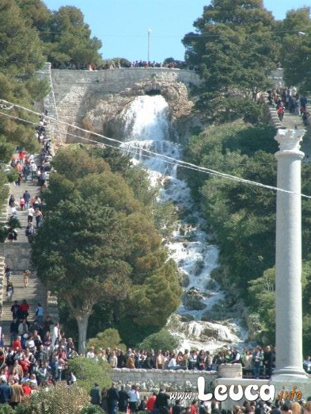 Foto cascata monumentale Santa Maria di Leuca. La Cascata viene aperta solo poche volte all'anno.