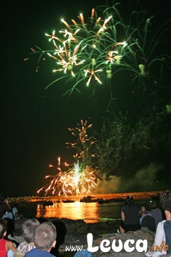 Fuochi Pirotecnici, durante la notte di Ferragosto a Santa Maria di Leuca... Evento seguito da anni da molti turisti