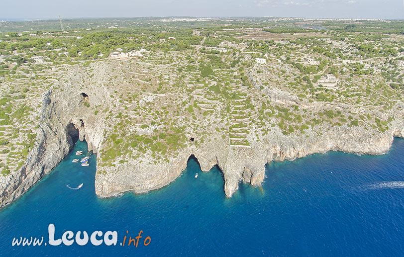 Grotte costiere di Leuca, costa di Levante