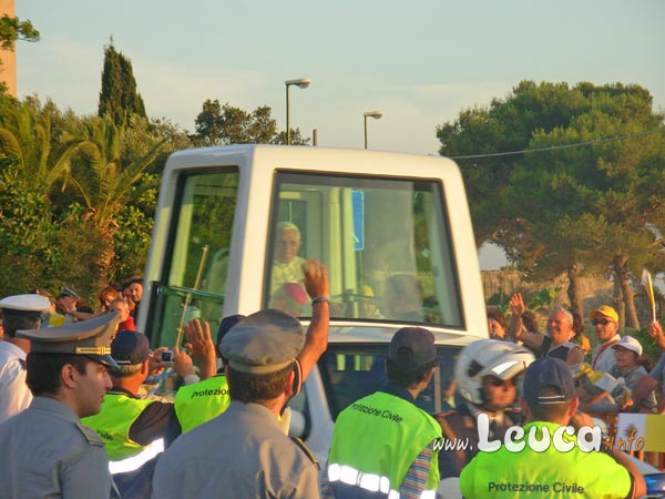 Foto Papa Ratzinger Benedetto XVI a Leuca - Foto Antonio Schina