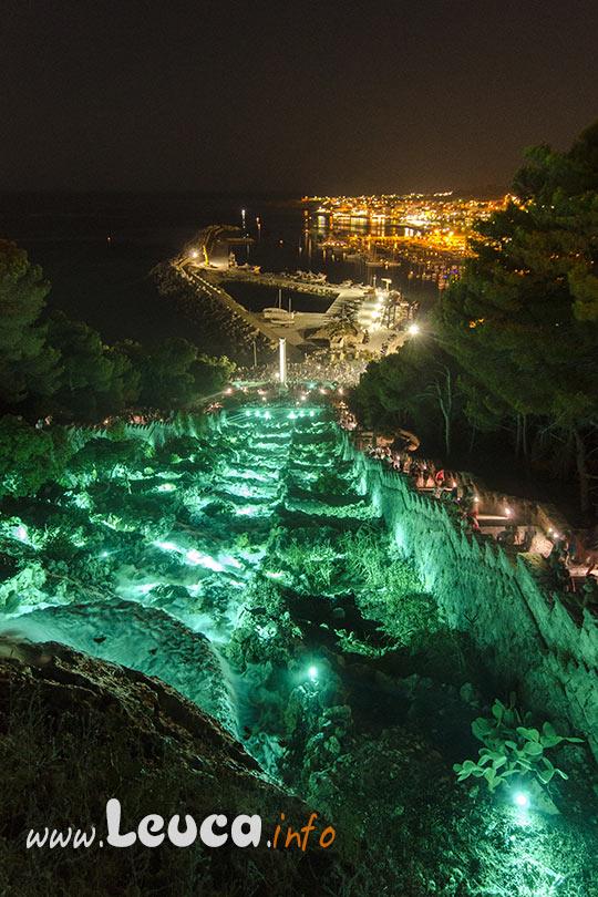 illuminazione artistica Notturna Cascata di Leuca