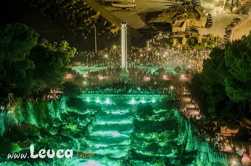 Illuminazione artistica Cascata Monumentale di Leuca