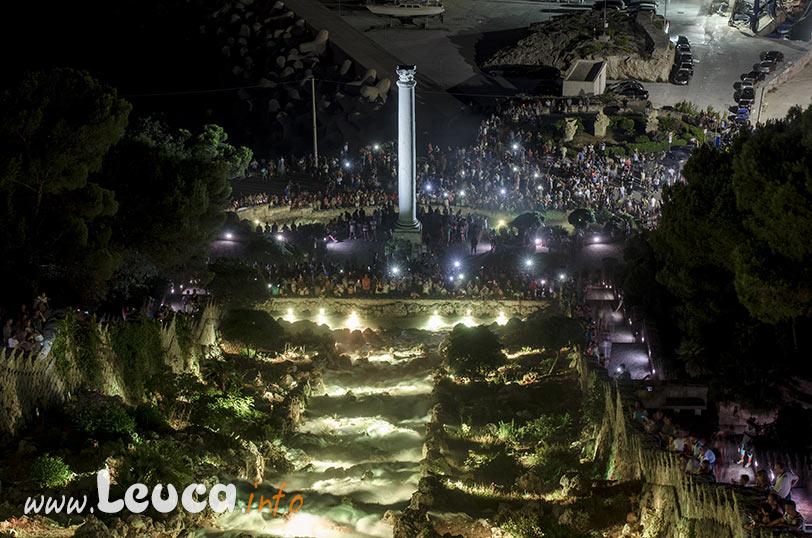 Illuminazione artistica in occasione dell'Apertura della Cascata di Leuca