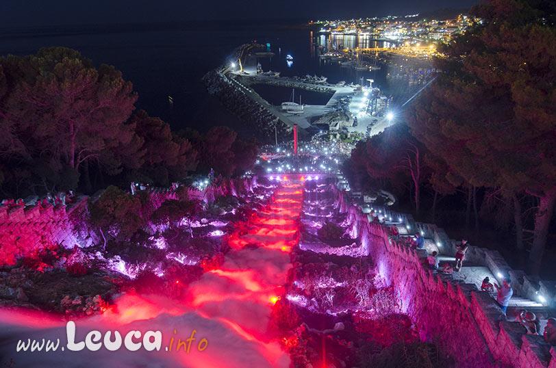 Cascata di Leuca, illuminazione artistica
