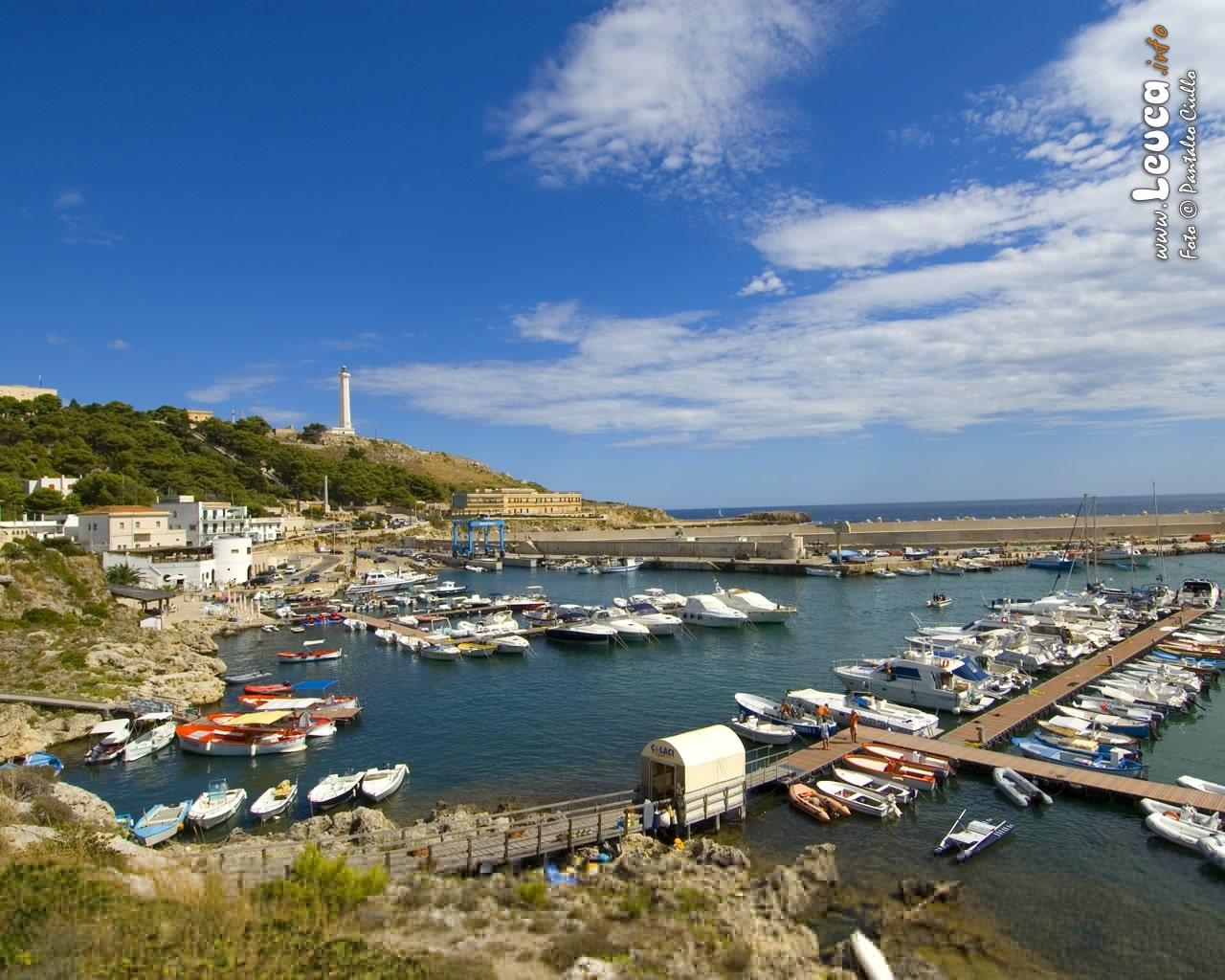 Vista panoramica del porto turistico di Santa Maria di leuca