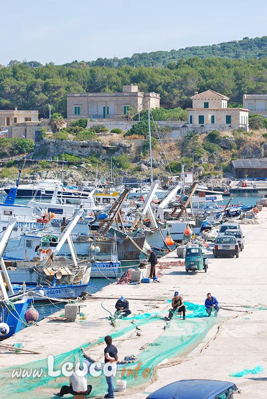 Alcuni Pescatori al Porto di Santa Maria di Leuca