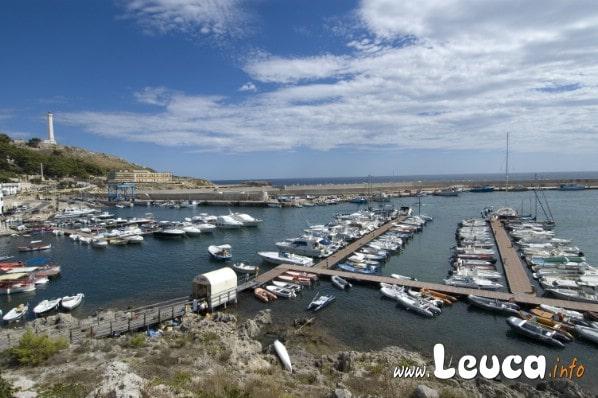 Porto Santa Maria di Leuca, vista panoramica del porto all'estremo lembo della Puglia