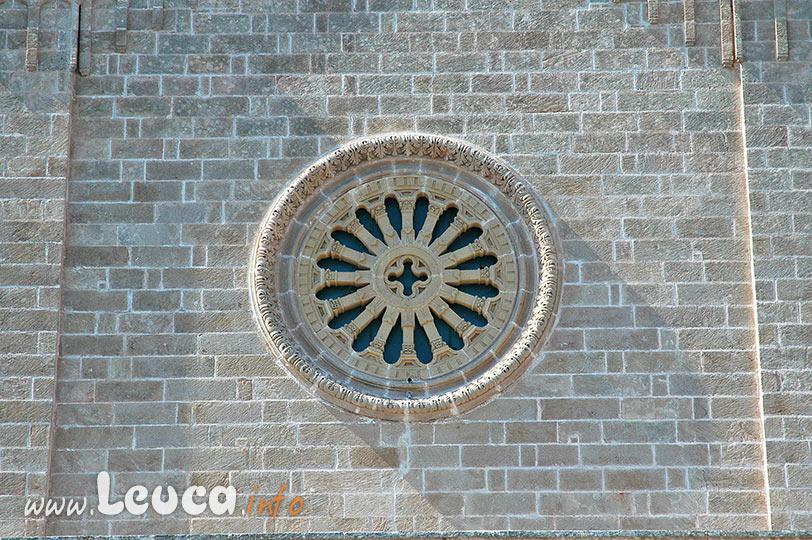 Rosone facciata Cristo Re a Marina di Leuca nel Salento