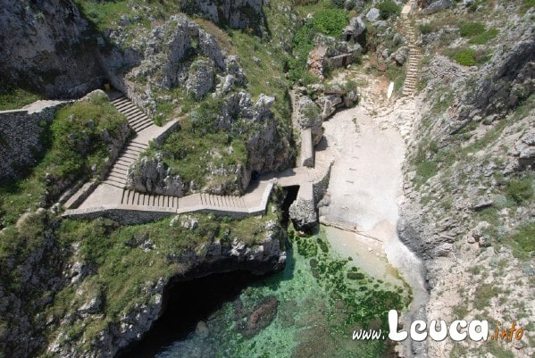 Scalinata e scalo località Ponte Ciolo a pochi km dalla Marina di Leuca