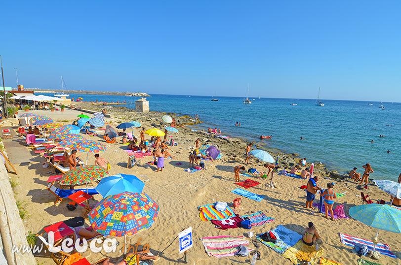 La spiaggia di sabbia a Marina di Leuca