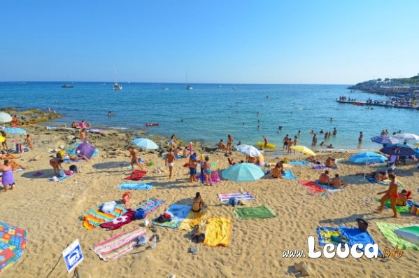 Spiaggia sabbiosa Santa Maria di Leuca foto scattata durate l'estate 2012