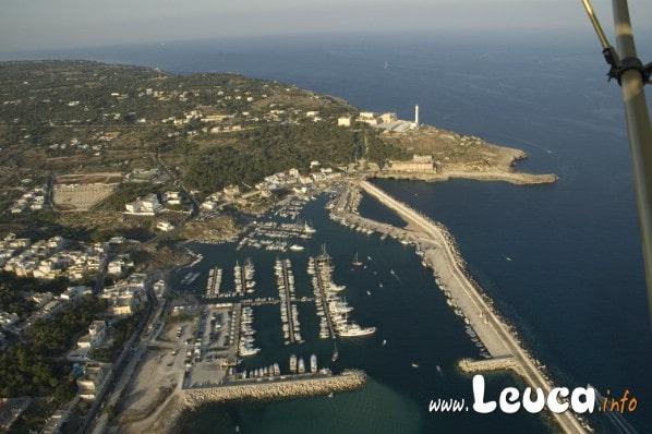 Foto vista aerea Santa Maria di Leuca.