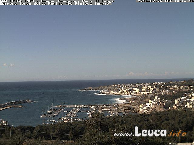 Foto ripresa dalla WebCam di Santa Maria di Leuca 06 Febbraio 2010
