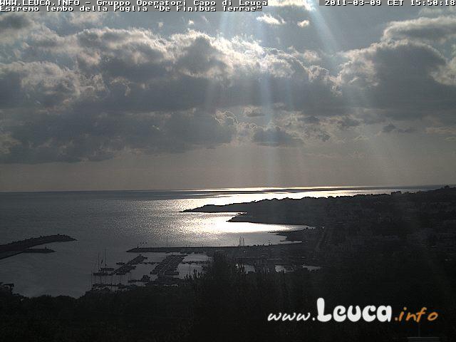 Foto ripresa dalla WebCam di Santa Maria di Leuca 09 Marzo 2011