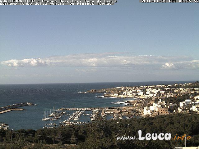 Foto ripresa dalla WebCam di Santa Maria di Leuca 31 Gennaio 2010