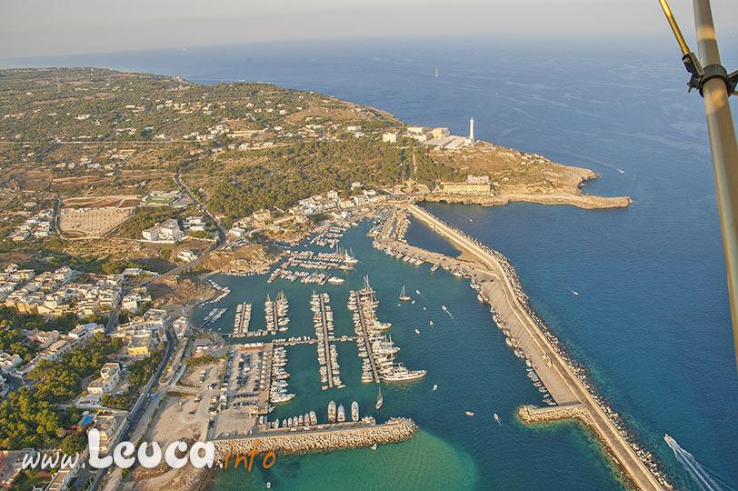 vista aerea porto di Leuca nel Salento